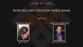 $1/$3 No Limit Hold'em, Onsie Game with Special Guest Vanessa Kade, and JFK2 in the booth.