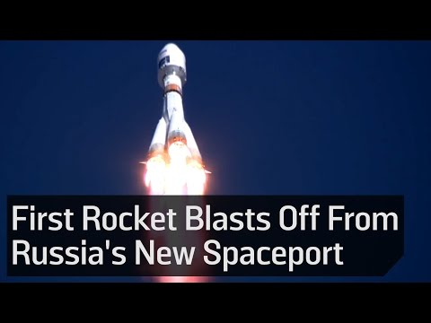 Russian Rocket Blasts Off From Country
