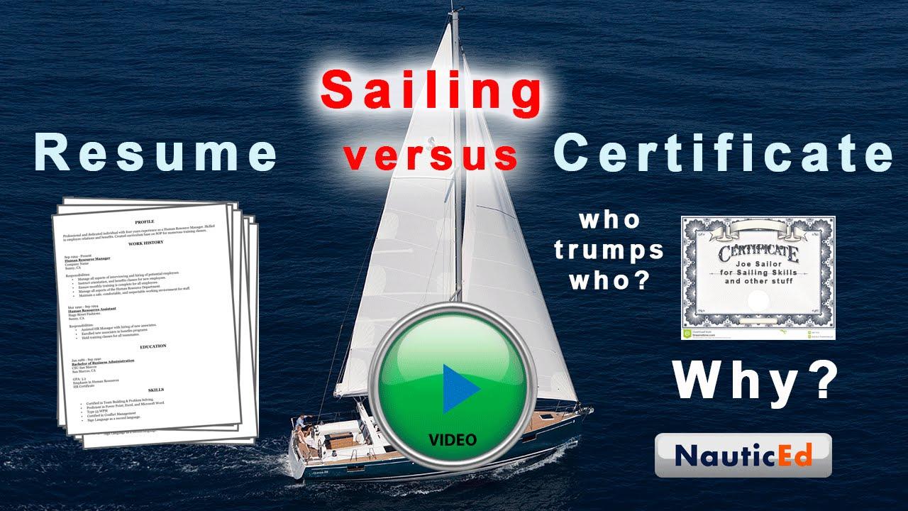 Sailing resume vs a sailing certification youtube sailing resume vs a sailing certification 1betcityfo Choice Image