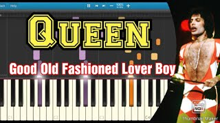 Queen - good old fashioned lover boy (Piano Tutorial)