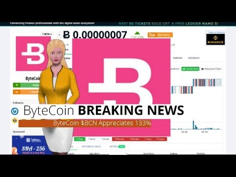 Cryptocurrency ByteCoin $BCN Rose 133% In the Last 24 Hours 1
