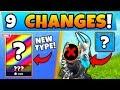Fortnite Update: NEW SKINS TYPE + ITEM REMOVED! - 9 Secret CHANGES in Battle Royale!