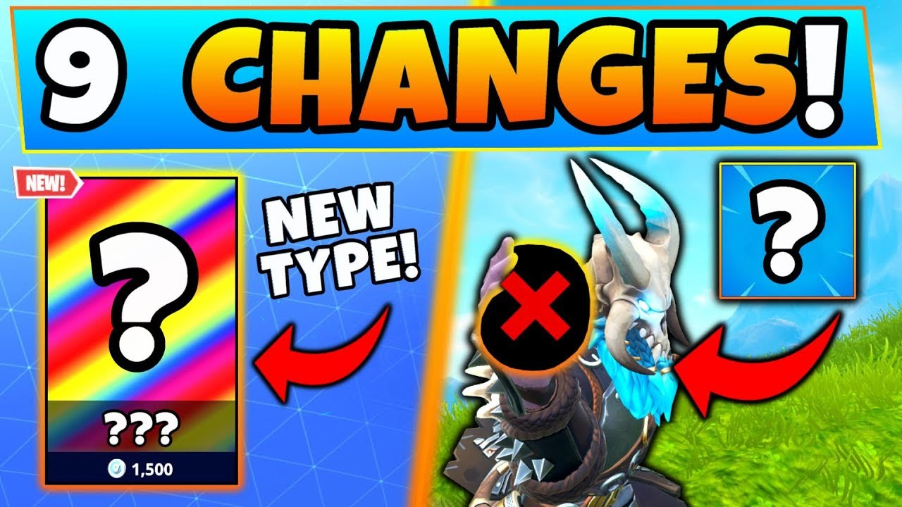 Fortnite Update New Skins Type Item Removed 9 Secret Changes
