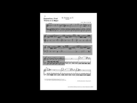 Analysis of sonata form of Mozart's Piano Sonata No. 16 in C major KV 545 - 1. Allegro