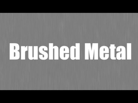 How to make a Brushed Metal Texture