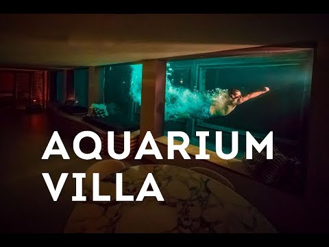 91-FOOT AQUARIUM POOL | Villa on the Rocks, France