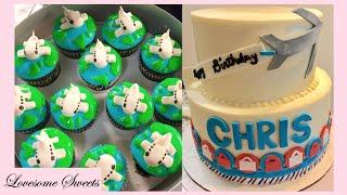 Airplane CAKE & CUPCAKES