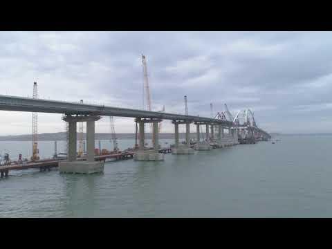 100% автодорожной части Керченского моста готовы и соединены