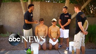 Student in Lesbian the showers group hazing