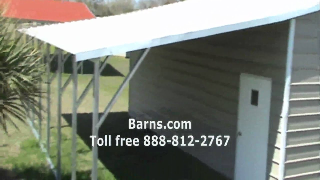 Video 13 garage with lean to youtube for Lean to addition to garage