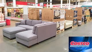 COSTCO FURNITURE SOFAS COUCHES ARMCHAIRS CHAIRS HOME DECOR SHOP WITH ME SHOPPING STORE WALK THROUGH