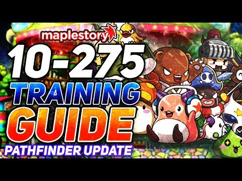 MapleStory: Pathfinder Update COMPLETE Training Guide Level 10-275 (2019)