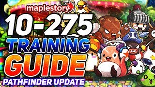 Maplestory: Pathfinder Update Complete Training Guide Level 10-275  2019