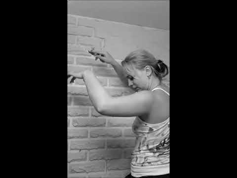 имитация кирпичной кладки на кухне своими руками
