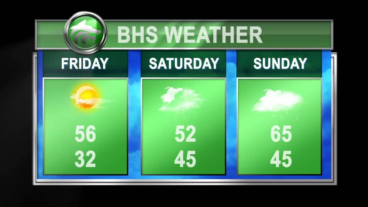 Buford Ga High School 3 Day Weather Intro Animation
