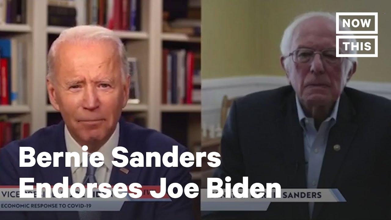 In a Joint Livestream, Bernie Sanders Endorses Joe Biden