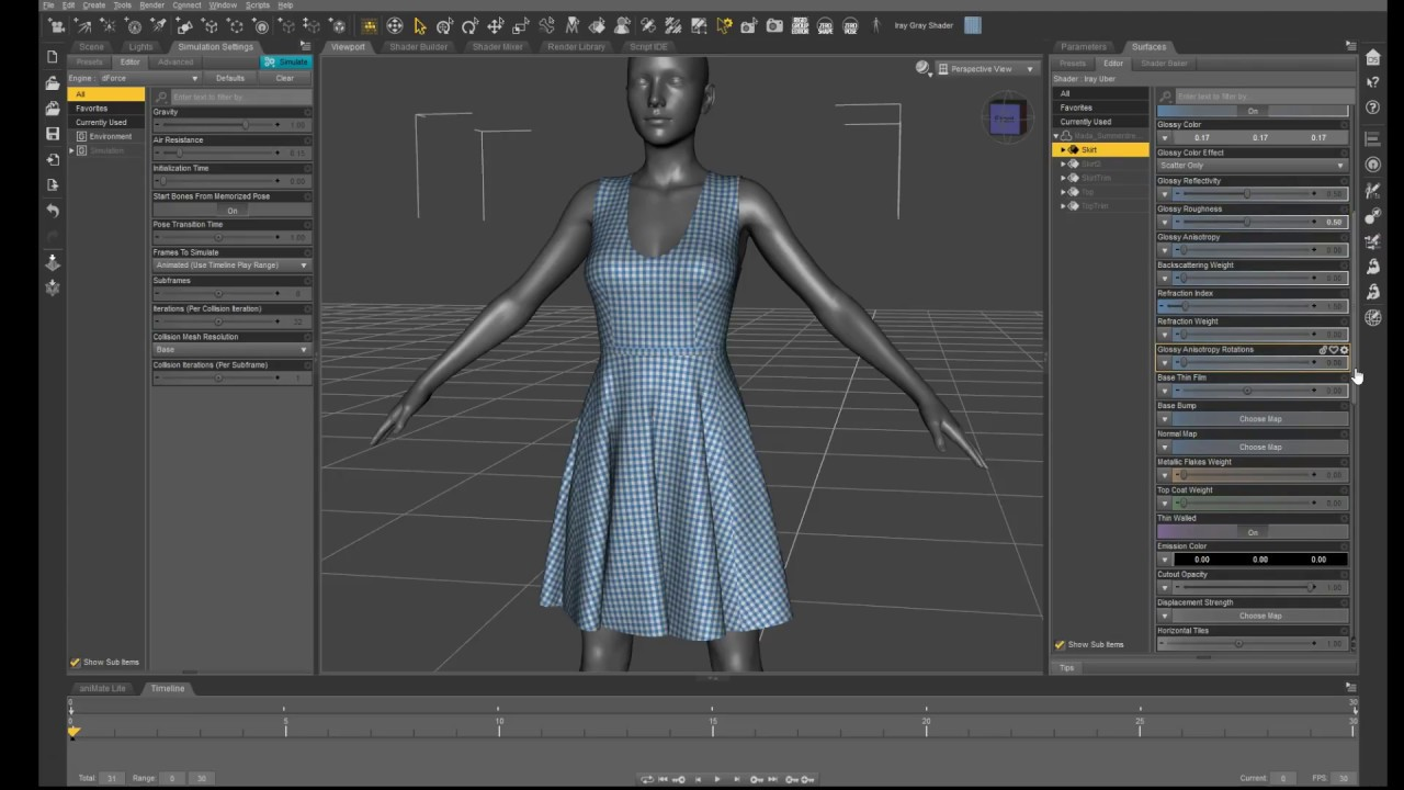 dforce in Daz Studio
