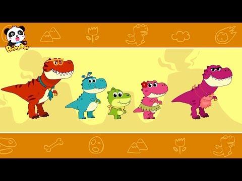 Baby Panda Cares for Baby Dinosaur  Dinosaur Songs  Nursery Rhymes  Kids Songs  BabyBus