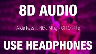 Baixar Alicia Keys ft. Nicki Minaj - Girl On Fire | 8D AUDIO