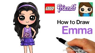 How to Draw Lego Friends Emma Easy