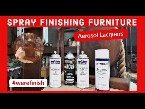 Spray Finish Wood Furniture Using Aerosol Lacquer - Product Reviews and Techniques