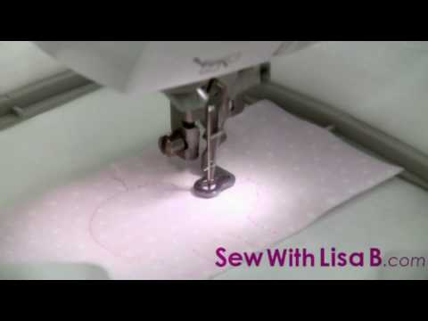 How to embroider an applique design by sew with lisa b youtube