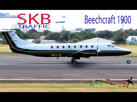 Rare Visitor !!! Virgin Islands Airlink Beech 1900C departing St. Kitts R.L.B Int'l Airport