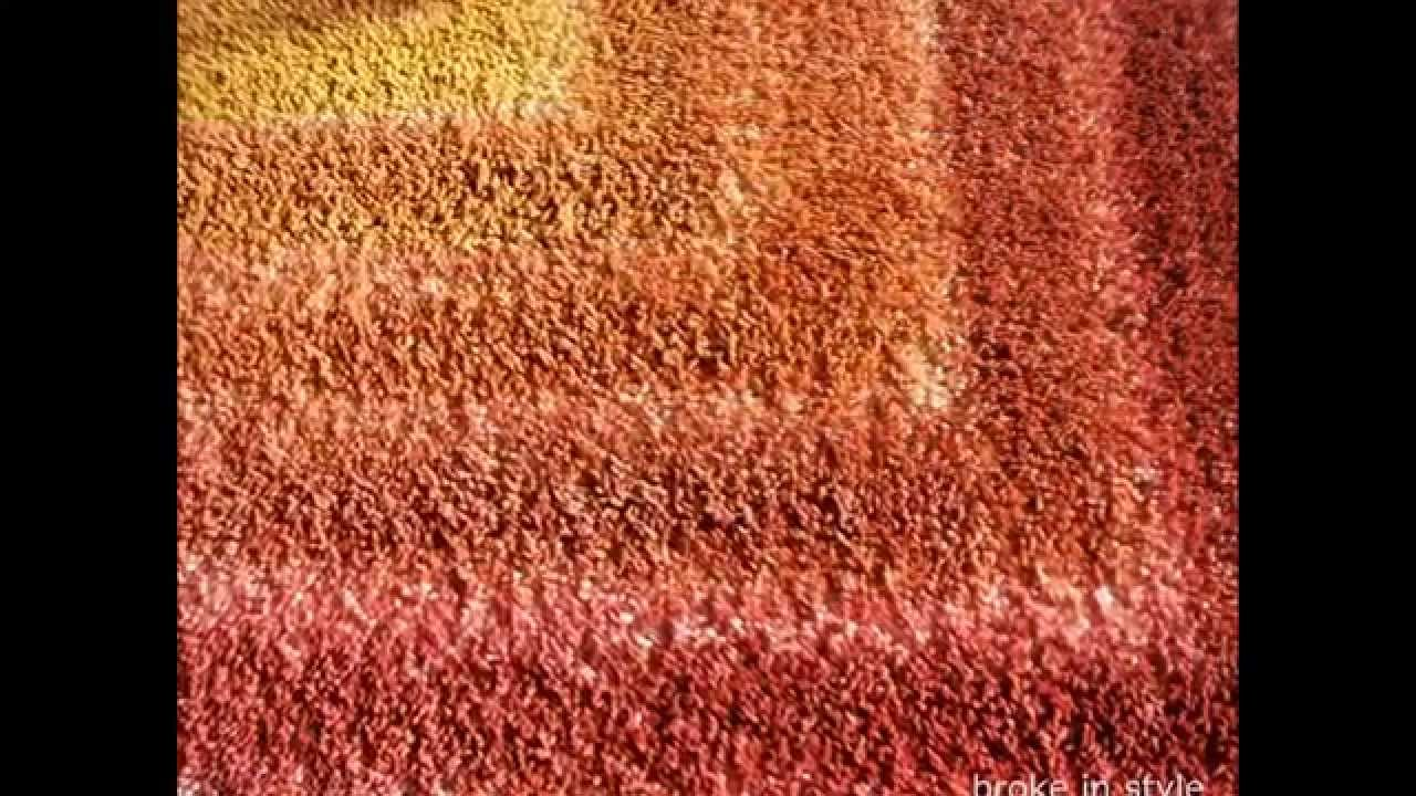 DIY dyeing a Midcentury Modern /Space Age style rug - YouTube