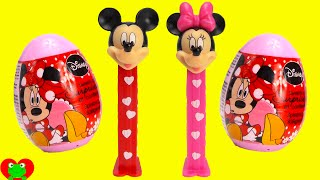 Minnie and Mickey Mouse Pez Candy Dispensers