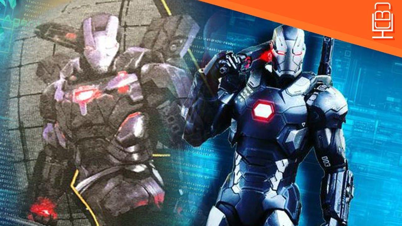 war machine new avengers infinity war armor revealed - youtube