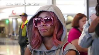 Blac Chyna Showing Off Major SIDE BOOB At LAX Airport