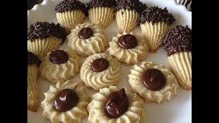 Italian Spritz Cookies With Nutella And Chocolate...and Yelling Goats