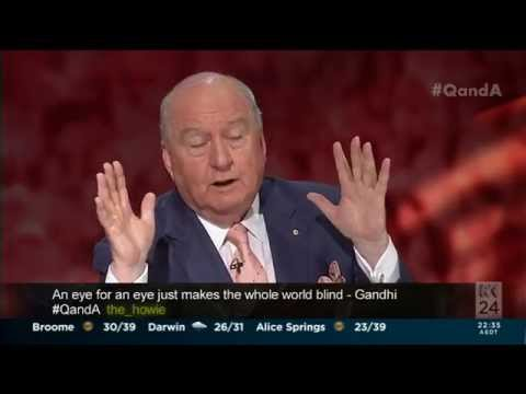 Alan Jones slams Bali nine death sentence as 'barbaric' on Q&A