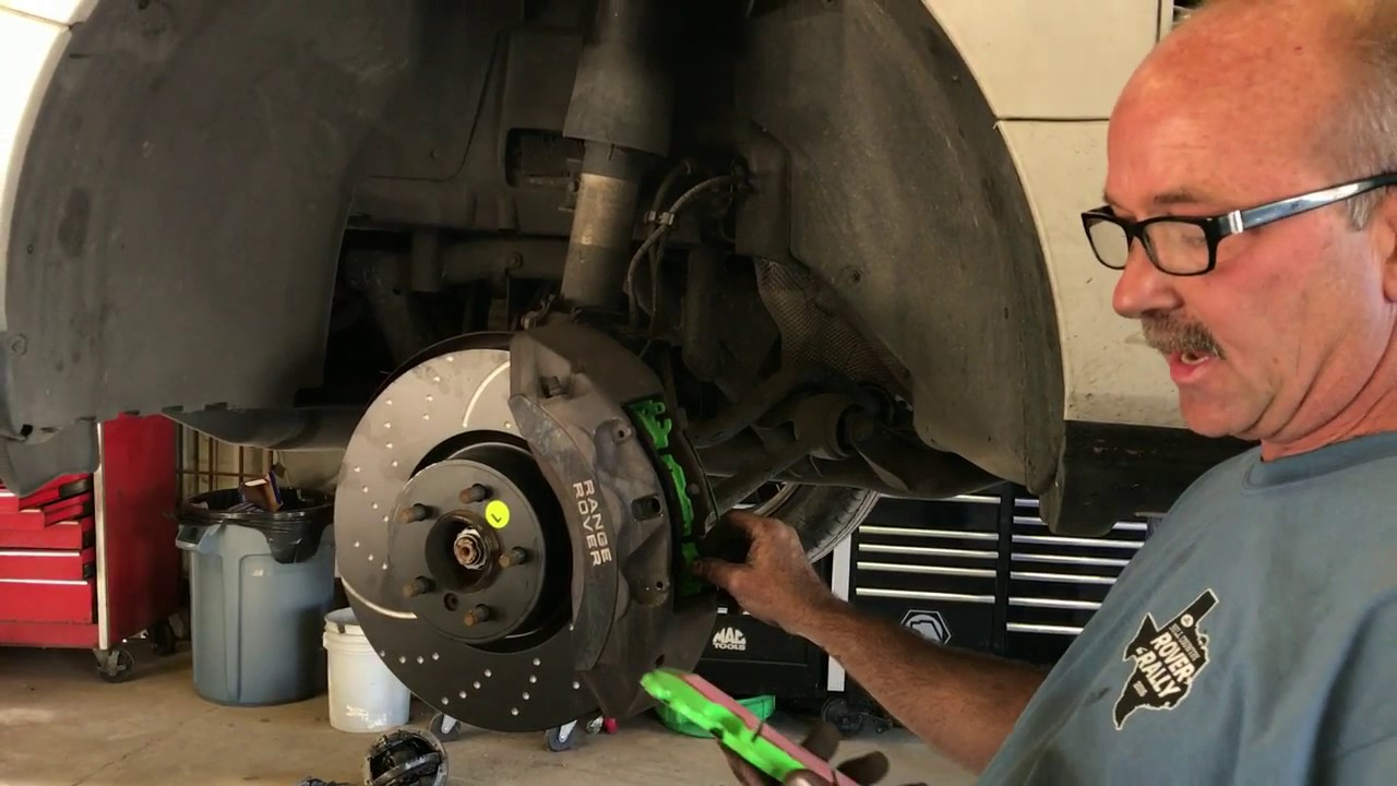 Brembo Brake Pads >> EBC Brake Pads and Rotors on 2010 Range Rover Supercharged - YouTube