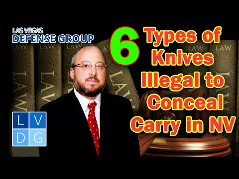 6 types of knives that are illegal to carry concealed in Nevada