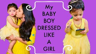 #VLOG || HANSH BABY DRESSED LIKE A GIRL || NEW DIET STARTED || CHEESE CHIPS || RADI TELUGU VLOGS