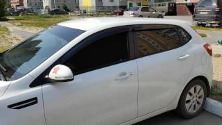 'TROKOT отзыв'  Каркасные шторки на Kia Rio 3 хетчбэк