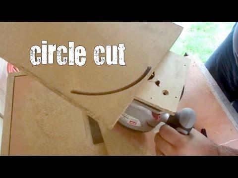 suntayı yuvarlak keme  - Making circle cut  - wood cut-  router cut