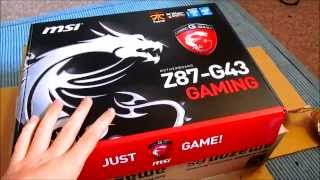 MSI Z87-G43 GAMING EDITION UNBOXING AND OVERVIEW (UK)
