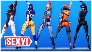 *NEW & SEXY* LAZER BLAST DANCE EMOTE PERFORMED WITH THE THICCEST SKINS 😍❤️ Fortnite