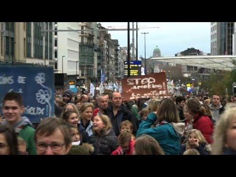 Marche pour le climat à Bruxelles en vue de la COP24 en Pologne