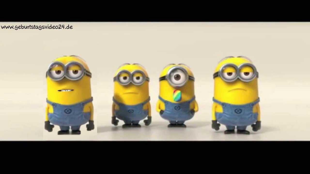 Minions gratulieren zum Geburtstag  lustiges Geschenk  YouTube