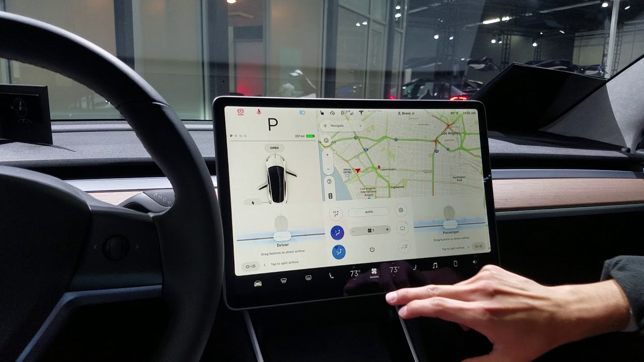 Tesla Fortnite Touch Screen