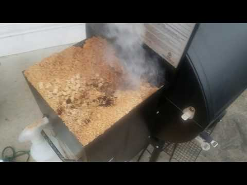 Pellet Smoker Catches On Fire *WARNING*