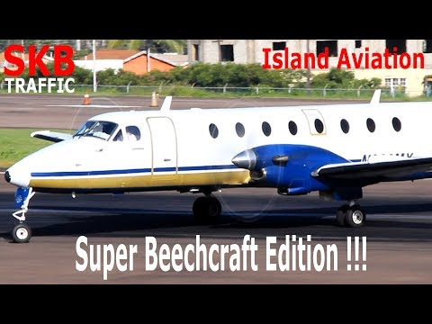 Super Beechcraft Edition !!! Air Sunshine 1900, Sky High Aviation 1900/99, King Air 300...@ S Kitts