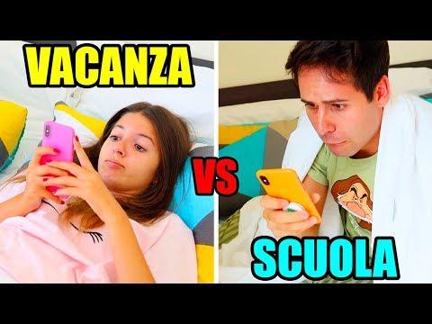 MORNING ROUTINE SCUOLA vs VACANZA