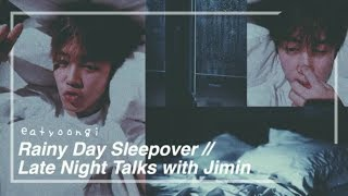 Video JIMIN IMAGINE / ASMR (BTS) - Rainy Day Sleepover (Español & English) download MP3, 3GP, MP4, WEBM, AVI, FLV Juli 2018