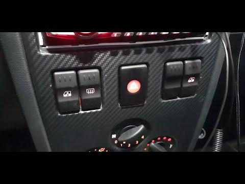 Подключение электростеклоподъемников на Renault Logan I faza 1