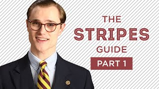 Stripes in Menswear Explained - Ultimate Guide Part I