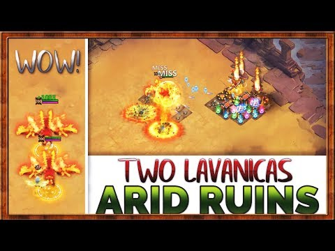 2 LAVANICAS CRUSH ARID RUINS | Unkillable | CASTLE CLASH